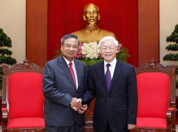 Le secretaire general du PCV recoit une delegation du PPRL hinh anh 1
