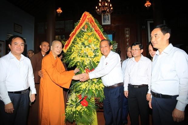 Des dirigeants formulent leurs voeux pour le 2562e anniversaire de Bouddha hinh anh 2