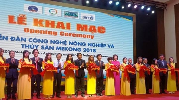 Delta du Mekong : Forum sur l'application de la technologie dans l'agro-aquaculture hinh anh 1