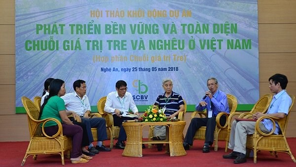 Lancement d'un projet de l'Oxfam sur les palourdes et le bambou dans 5 provinces vietnamiennes hinh anh 1