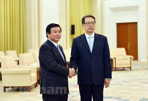 Le Parti communiste chinois prend en consideration le developpement des liens avec le PCV hinh anh 1