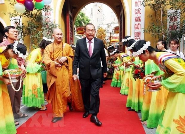 Le 2562e anniversaire de la naissance de Bouddha celebre a Hanoi hinh anh 1