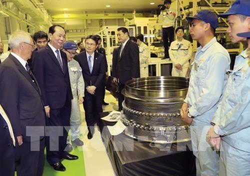 Les medias japonais couvrent la visite du president vietnamien dans leur pays hinh anh 1