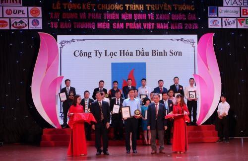 La societe de raffinage Binh Son obtient un prix pour l'usine ecologique de 2018 hinh anh 1