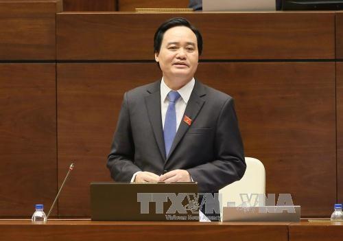 AN : le ministre de l'Education et de la Formation reponde aux questions des deputes hinh anh 1