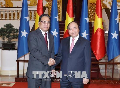 Le PM recoit le president du Congres des Etats federes de Micronesie hinh anh 1