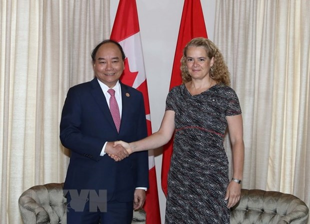 Entrevue Nguyen Xuan Phuc- Julie Payette hinh anh 1