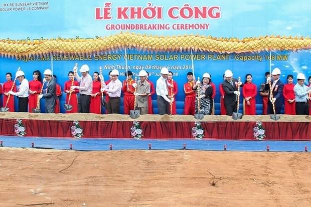 La plus grande centrale solaire du Vietnam construite a Ninh Thuan hinh anh 1