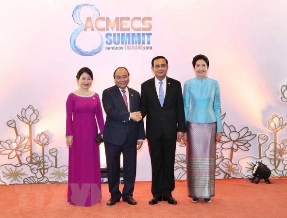 Le PM vietnamien rencontre son homologue thailandais en marge du sommet d'ACMECS 8 hinh anh 1