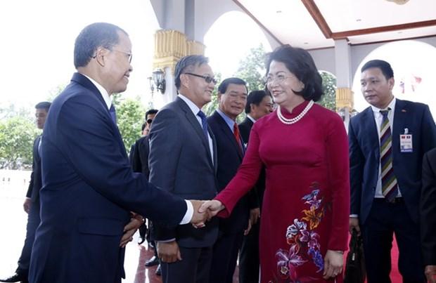 La vice-presidente vietnamienne effectue une visite officielle au Laos hinh anh 1