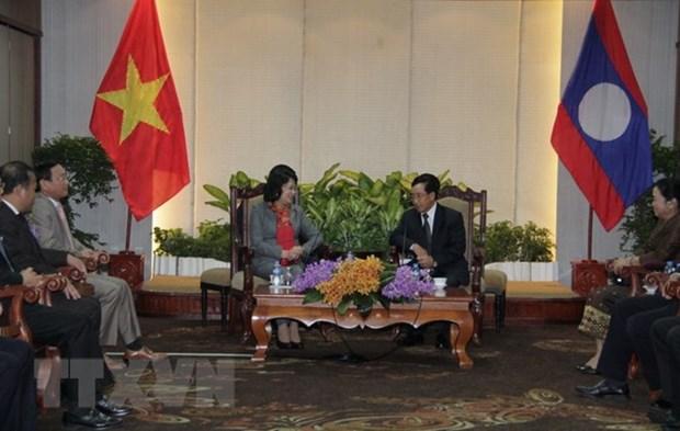 La vice-presidente du Vietnam acheve sa visite officielle au Laos hinh anh 1