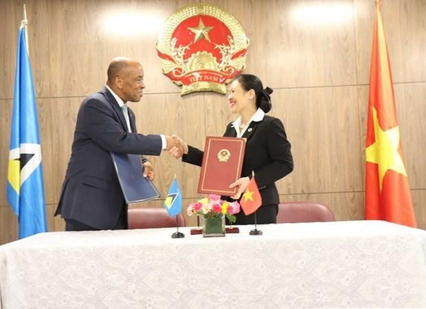 Le Vietnam et la Sainte-Lucie etablissent des relations diplomatiques hinh anh 1
