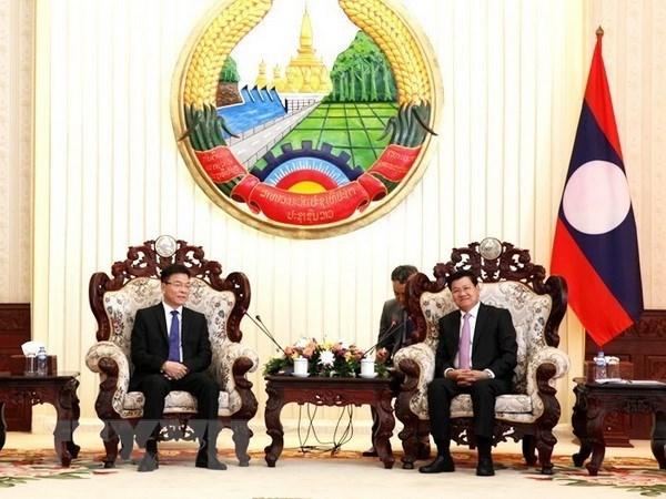 Des dirigeants laotiens saluent les relations juridiques Vietnam-Laos hinh anh 1