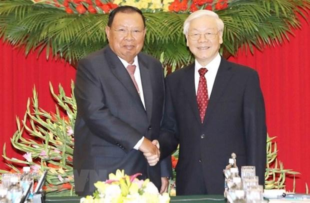 Le leader du Laos effectue une visite de cinq jours au Vietnam hinh anh 1