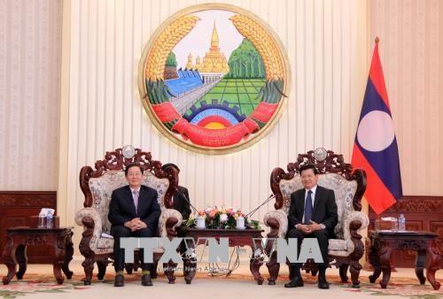 Une delegation du ministere de l'Interieur du Vietnam en visite de travail au Laos hinh anh 1