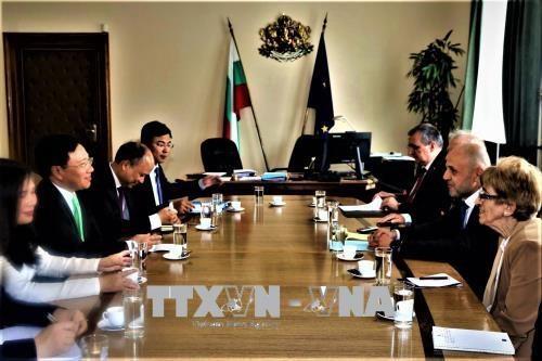 Le vice-PM et ministre des AE Pham Binh Minh en visite officielle en Bulgarie hinh anh 1