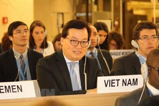 Le CDH de l'ONU adopte une resolution co-redigee par le Vietnam hinh anh 1