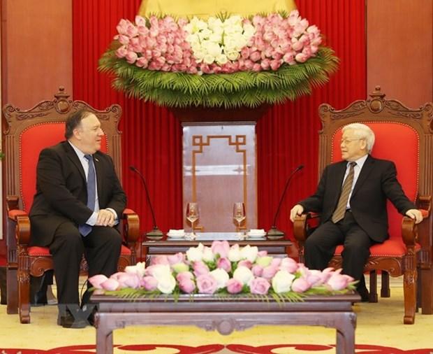 Le secretaire general Nguyen Phu Trong recoit le secretaire d'Etat americain hinh anh 1