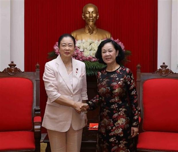 Une delegation de femmes parlementaires du Parti liberal democrate du Japon au Vietnam hinh anh 2