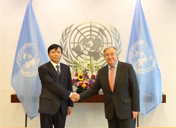 Le secretaire general de l'ONU apprecie la cooperation du Vietnam hinh anh 1