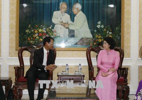 Ho Chi Minh-Ville recoit une delegation de la province laotienne de Champassak hinh anh 1