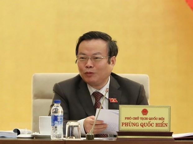 Le vice-president de l'AN Phung Quoc Hien recoit des parlementaires australiens hinh anh 1