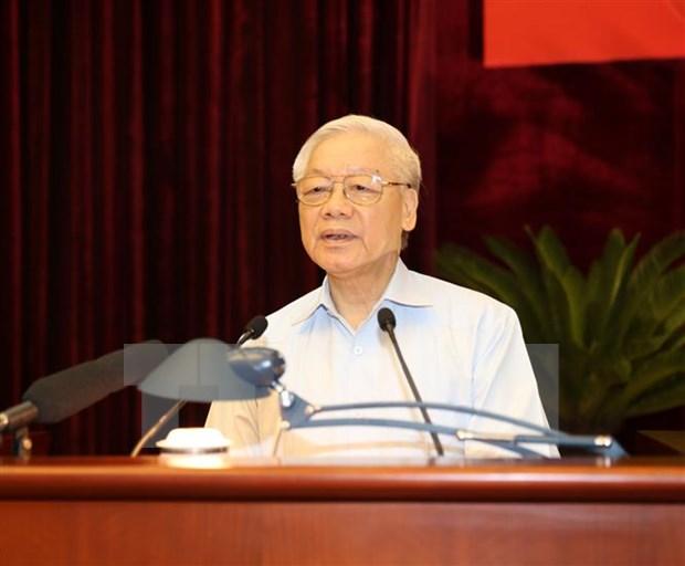Le leader du PCV souligne l'execution des statuts sur la democratie a la base hinh anh 1
