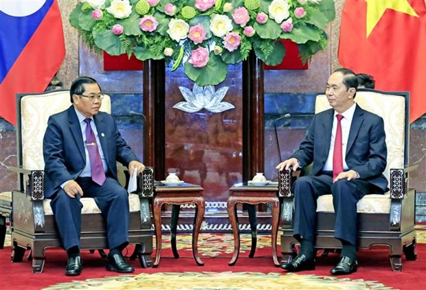 Le president exhorte a booster la cooperation parlementaire Vietnam-Laos hinh anh 1