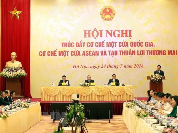 Conference nationale sur le mecanisme du guichet unique national et de l'ASEAN hinh anh 1