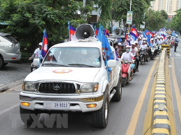 Cambodge : demonstration de force avant les elections generales hinh anh 1