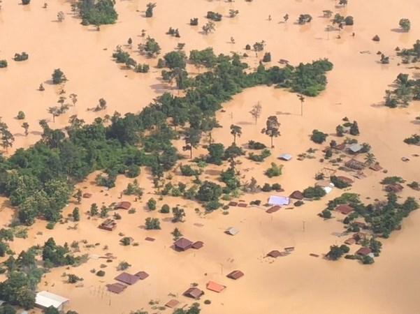 Barrage effondre au Laos: les villageois en aval ont recu l'alerte d'evacuer un jour avant hinh anh 1