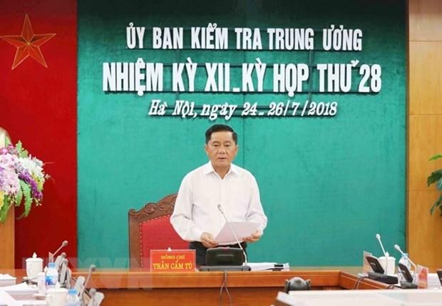 La Commission du controle du Comite central du Parti tient sa 28e reunion hinh anh 1