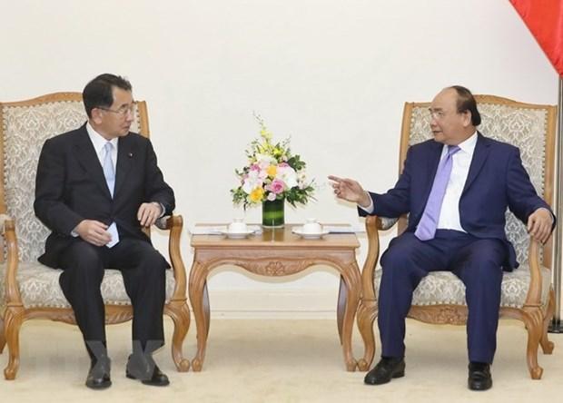 Le PM recoit le president de l'Alliance des parlementaires d'amitie Japon-Mekong hinh anh 1