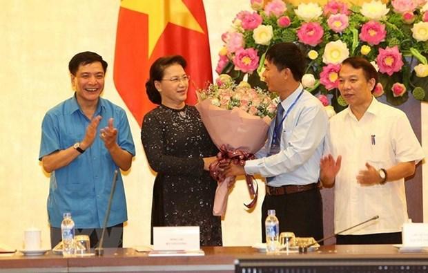 La presidente de l'AN rencontre des laureats du prix Nguyen Duc Canh hinh anh 1