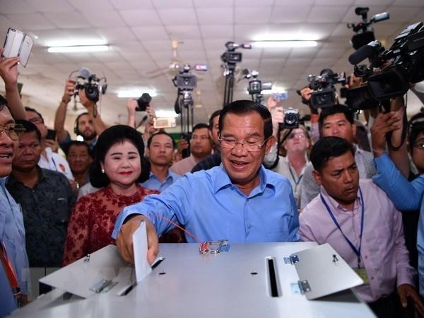 Cambodge: le PPC affirme avoir gagne 114 sieges au nouveau parlement hinh anh 1