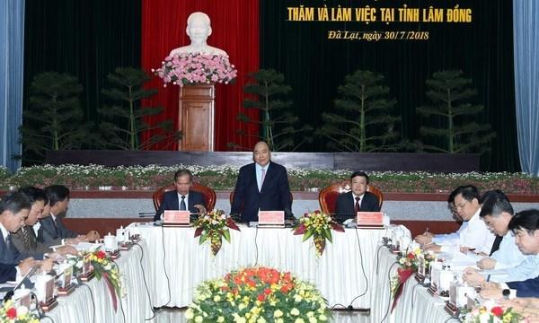 Le PM propose un modele du triangle de developpement economique pour Lam Dong hinh anh 1