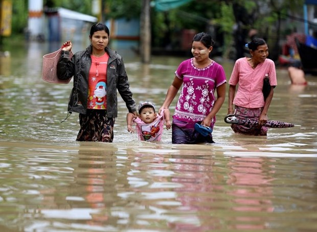 Les inondations font 5 morts et 54.000 deplaces au Myanmar hinh anh 1