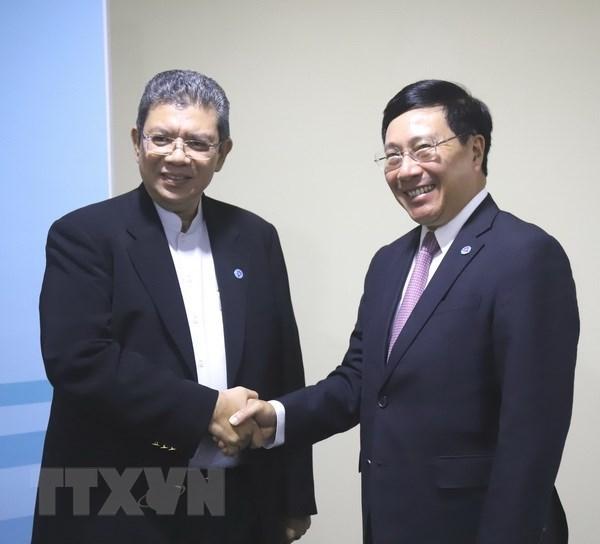 Le vice-PM Pham Binh Minh rencontre ses homologues en marge de l'AMM-51 hinh anh 4