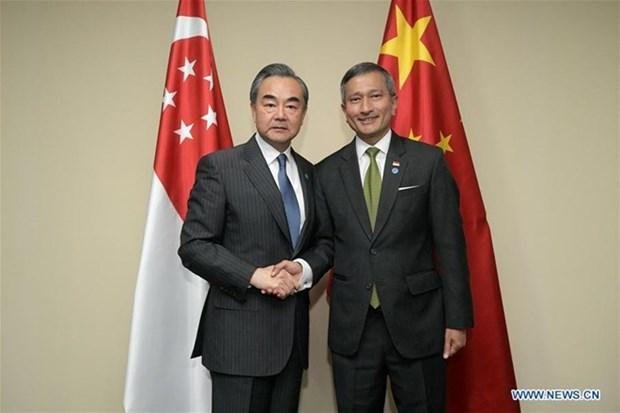 La Chine et Singapour conviennent de soutenir le multilateralisme et le libre-echange hinh anh 1
