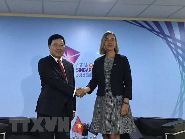 Le Vietnam invite l'UE a retirer le carton jaune a ses produits marins hinh anh 1