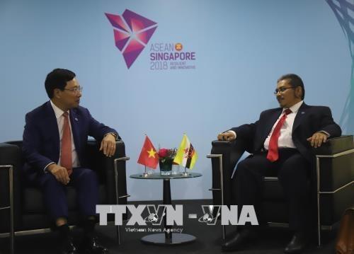 AMM 51 : Le vice-PM et ministre des AE Pham Binh Minh a des rencontres bilaterales hinh anh 2