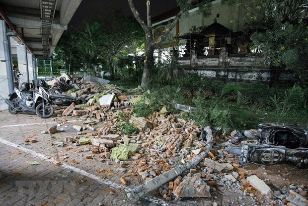 Seisme en Indonesie: au moins 82 morts et des centaines de blesses hinh anh 1