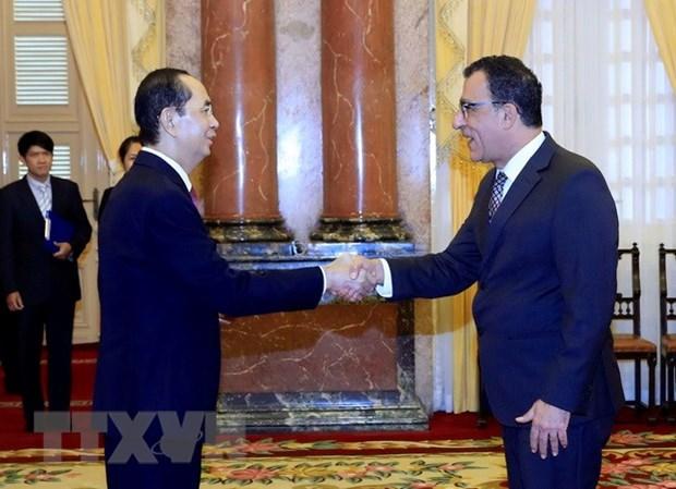 Le president Tran Dai Quang recoit de nouveaux ambassadeurs etrangers hinh anh 1