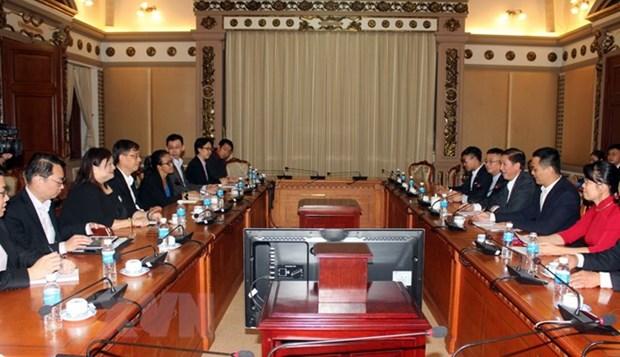 Ho Chi Minh-Ville et Singapour promeuvent les liens dans la construction d'une ville intelligente hinh anh 1