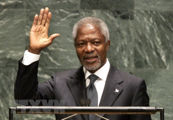 Condoleances pour le deces de Kofi Annan hinh anh 1