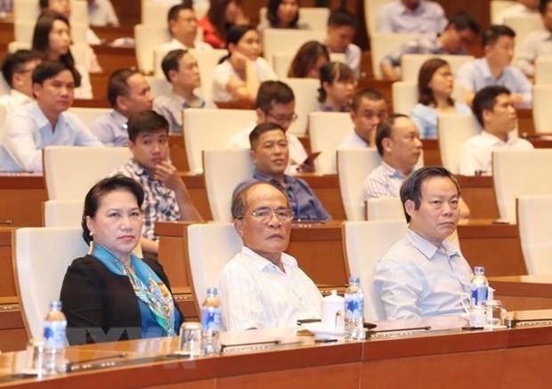 La presidente de l'AN assiste a un debat sur le President Ton Duc Thang hinh anh 1