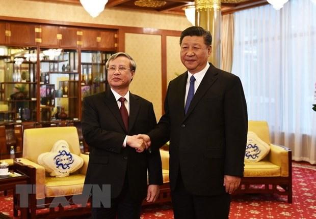 Tran Quoc Vuong recu par le dirigeant chinois Xi Jinping hinh anh 1