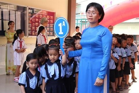 Plus d'un million d'eleves de Ho Chi Minh-Ville font leur rentree des classes hinh anh 1