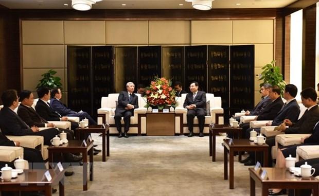 Une delegation du PCV en visite a Shaanxi en Chine hinh anh 1