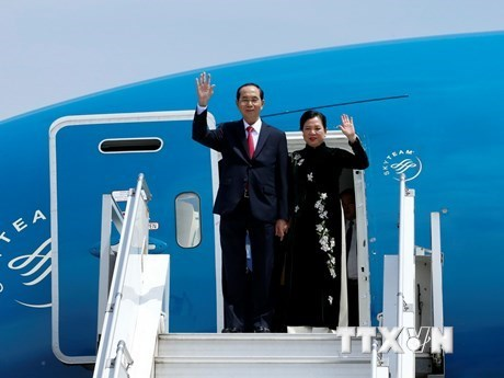 Le president Tran Dai Quang entame sa visite d'Etat en Ethiopie hinh anh 1